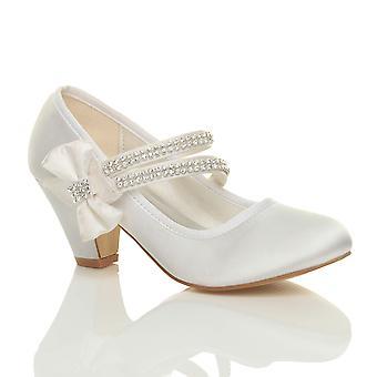 Ajvani девочек Низкая пятки партии свадьбе Мэри Джейн стиль крюк & цикла школа обувь сандалии