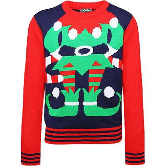 Christmas Boys & Girls Festive Elf Sweater Jumper