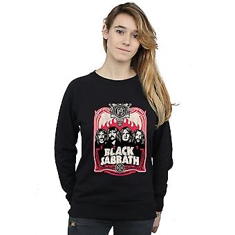 Black Sabbath Women's Flames Distressed Sweatshirt