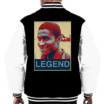 Portugal Eusebio Black Panther 1966 Football Legend Poster Style Men's Varsity Jacket