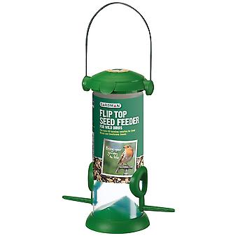 Flip Top seme alimentatore per uccelli selvatici