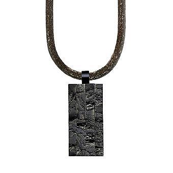 s.Oliver jóia mens colar aço inox couro SO1019/1 - 463669