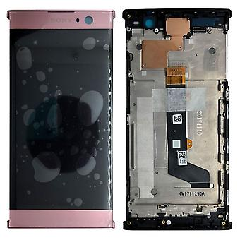 Sony display LCD complete unit with frame for Xperia XA2 pink spare parts