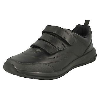 בנים Clarks הוק לולאה הצמדה נעלי בית הספר הולה ריגוש