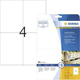 Herma 10909 Labels 105 x 148 mm Paper White 100 pc(s) Permanent Adhesive labels (extra strong), All-purpose labels Inkjet, Laser, Copier 25 Sheet A4