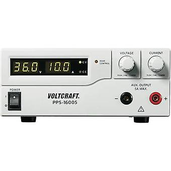 VOLTCRAFT PPS-16005 Bench PSU (adjustable voltage) 1 - 36 V DC 0 - 10 A 360 W USB , Remote programmable No. of outputs 2 x
