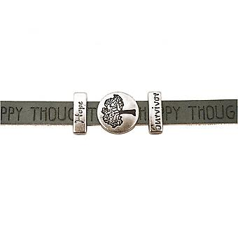 Women - bracelet - tree of life - WISHES - grey - anthracite - magnetic lock - hope - survivor
