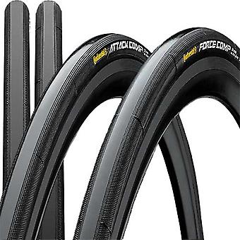 Continental GP attack + force comp bike tyres / / 22/24-622 (28″)