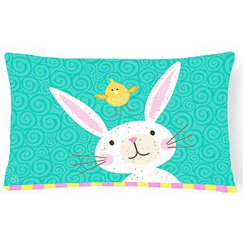 Happy Easter Rabbit Canvas Fabric Decorative Pillow
