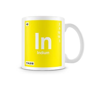 Wetenschappelijke bedrukte Mok met Element grafieksymbool 049 - Indium