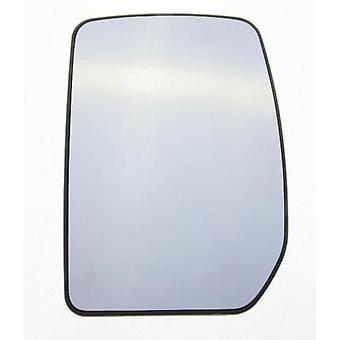 Left Passenger Wing Mirror Glass (Heated) For Ford TRANSIT Flatbed 2000-2014