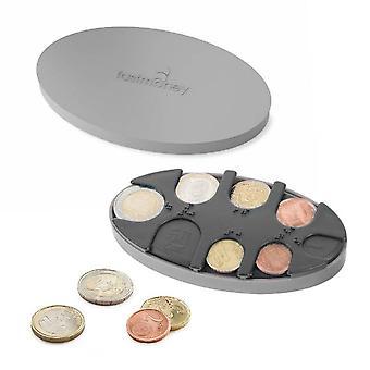 Soporte de moneda gris