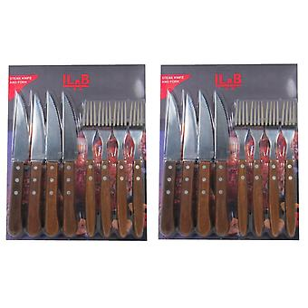 Meat & Barbecue Cutlery Large 16-pieces