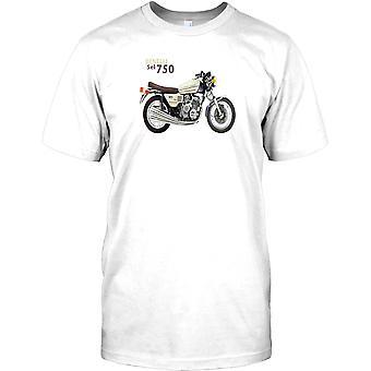 Benelli Sei 750 - klassiska italienska cykel Mens T Shirt