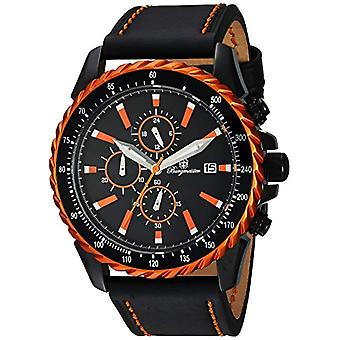 Burgmeister-quartz with analog Display and bmt 02-652, leather bracelet color: black