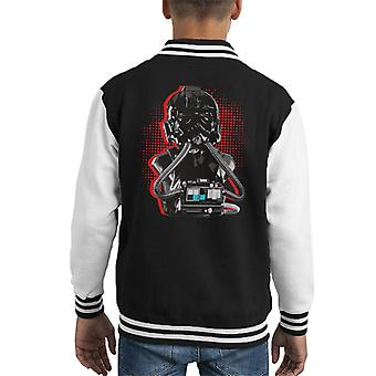 Original Stormtrooper Imperial TIE Pilot Red Burst Kid's Varsity Jacket