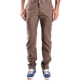 Daniele Alessandrini Ezbc107166 Men's Brown Cotton Pants