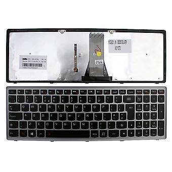 Lenovo IdeaPad G505S Silver Frame taustavalaistu musta Windows 8 UK layout korvaaminen Laptop Keyboard