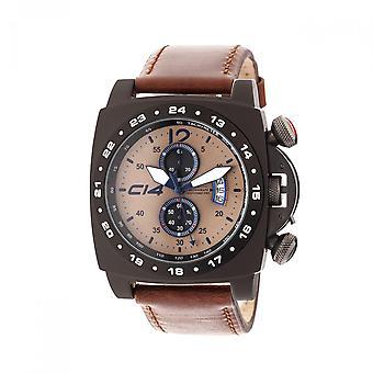 A 1 .4 -Carbon 14- Quartz Chronograph - Brown Leather