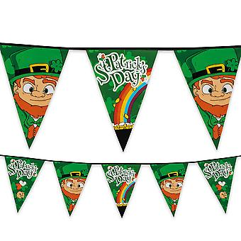 St Patrick's Day Plastic Bunting 8m Long Ireland Irish Party Decoration