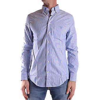 Gant Ezbc144014 Men's Light Blue Cotton Shirt