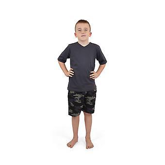 Sokken Uwear Boys Cotton V-Neck Camo Short Nightwear Pyjama's