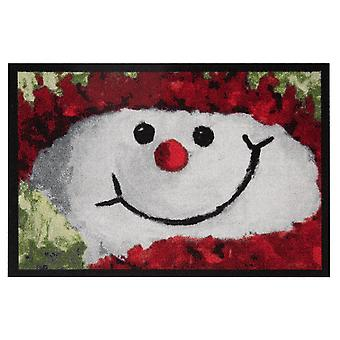 Doormat dirt trapping pad snowman snowman red 40 x 60 cm