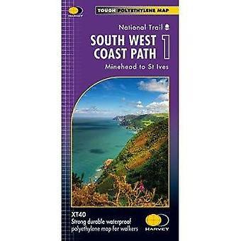 South West Coast Path 1 XT40 - Minehead to St Ives - 9781851375547 Book