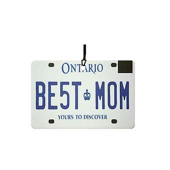 ONTARIO - Best Mom License Plate Car Air Freshener
