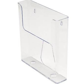 Deflecto DE76401 brochure holder transparent A4 No. af rum 1 1 pc (r) (b x H x D) 230 x 244 x 50 mm