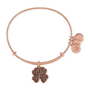 Alex and Ani Four Leaf Clover Charm Bangle Bracelet - A17EB05ROGSR