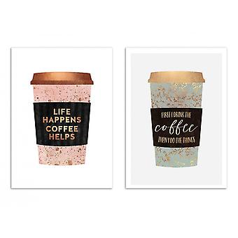 2 Art-Posters - Duo Coffee Motivations - Elisabeth Fredriksson
