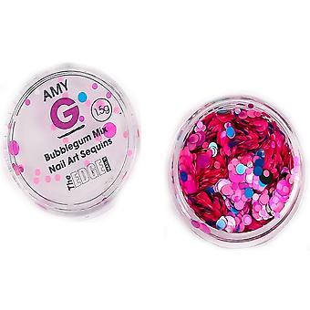 The Edge Nails Amy G - Dolce Nail Art Sequins - Bubblegum 1.5g (3003061)