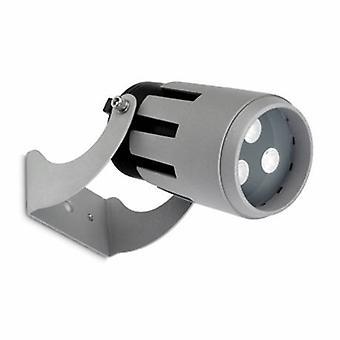 LED 3 licht kleine outdoor Spotlight grijs Ip65