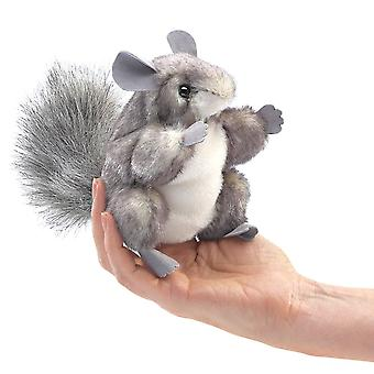Finger Puppet - Folkmanis - Mini Chinchilla New Toys Soft Doll Plush 2759