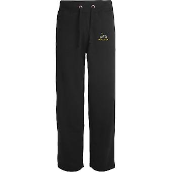 Royal Lincolnshire Regiment - lizenzierte britische Armee bestickt offenen Hem Sweatpants / Jogging Bottoms