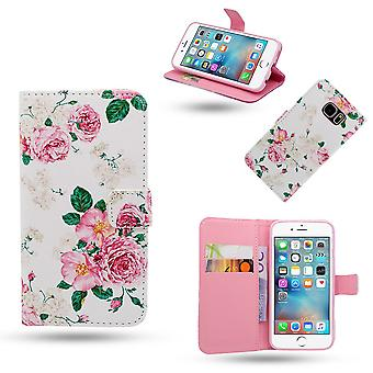 Iphone 6/6 s Fall/Leder Brieftasche-Blumen