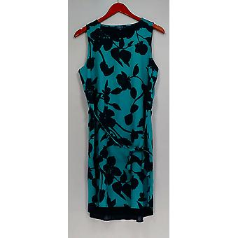 Kelly by Clinton Kelly Dress Double Layer Sleeveless Blue A278475