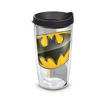 Tumbler de 16 onças de logotipo Batman Tervis com tampa
