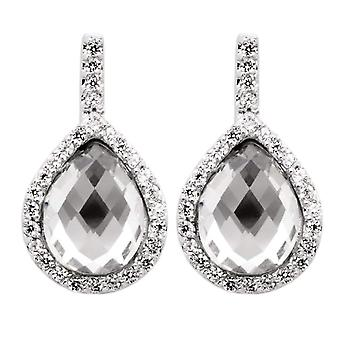 Burgmeister šperky-ženské náušnice s kubickým zirkonií-stříbrný šterlinč 925-COD. JHE1049-221