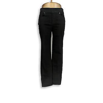 Martha Stewart Women's Jeans Knit Ankle W/ Zipper Detail Black A351436