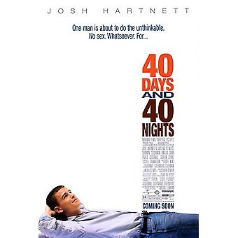 40 dias e 40 noites (2002) poster original do cinema