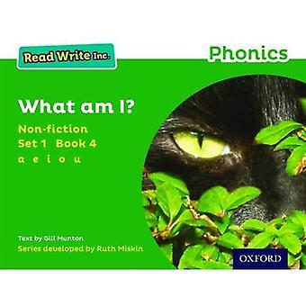 Read Write Inc. Phonics: Green Set 1 Sachbuch 4 Was bin ich?