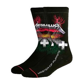 Metallica Socks Master Of Puppets Album Band Logo new Official Mens Black