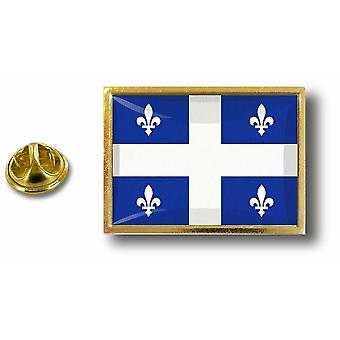 Pins Pin Badge Pin's Metal  Avec Pince Papillon Drapeau Canada Quebec