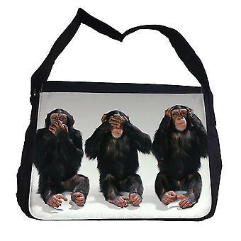 Drie apen tas met schouderriem