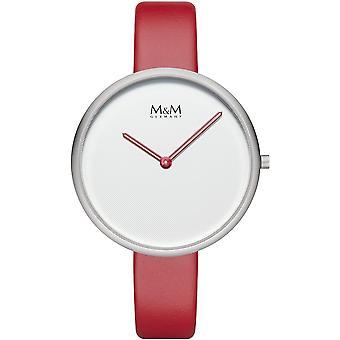 M & M Tyskland M11954-722 flat design damer klocka