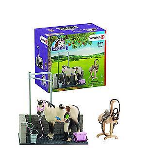 Schleich Horse Club 42104 pesu alue hevosen & hahmo