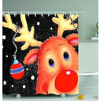 Reindeer Drawing Shower Curtain