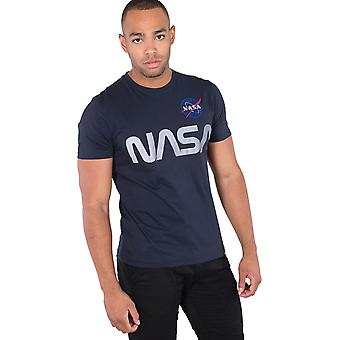 Alpha Industries NASA Reflective T-Shirt Navy 93